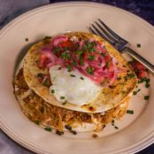 Bacon and Hash Brown 'Quesadilla' with Eggs, Bobby Flay