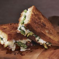 Roasted Asparagus and Fresh Herb Grilled Cheese