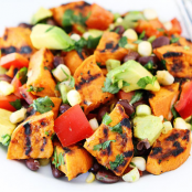 Sweet Potato Salad with Corn and Avocado