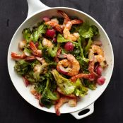 Warm Shrimp & Escarole Salad