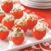 Herb & Cheese Filled Cherry Tomatoes