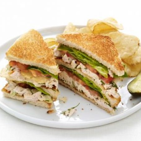 Chicken Potato Chip Club Sandwiches