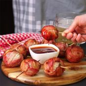 Bacon Wrapped Stuffed Onion Meatballs