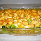 Cheesy Chicken Broccoli & Tater Tot Bake