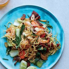 Shrimp-and-Pork Pan-Fried Noodles