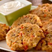 SEASONED BLACK EYED PEA FRITTERS
