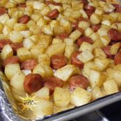 Oven-roasted Potatoes and Sausage