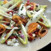 Endive Salad with Persimmon & Pomegranate