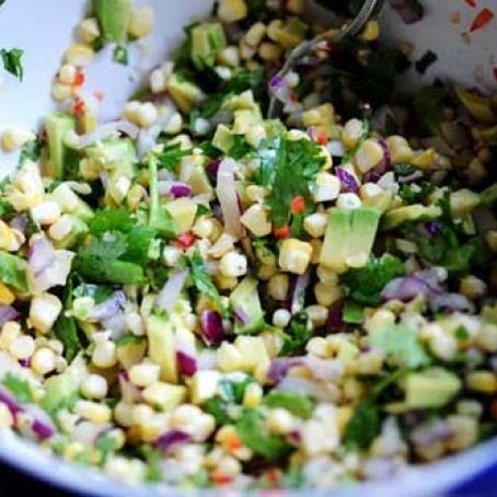 Fresh Corn and Avacado Salsa
