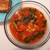 Tomato Kale and White Bean Soup
