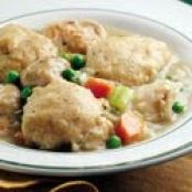 Crockpot Chicken & Dumplings with Refrigerated Biscuit Dough