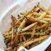 Skinny Garlic Parmesan Fries