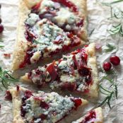 Cranberry, Bacon, and Gorgonzola Puff Pizza