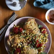 Roast Chicken Thighs With Jerk Corn & Lime