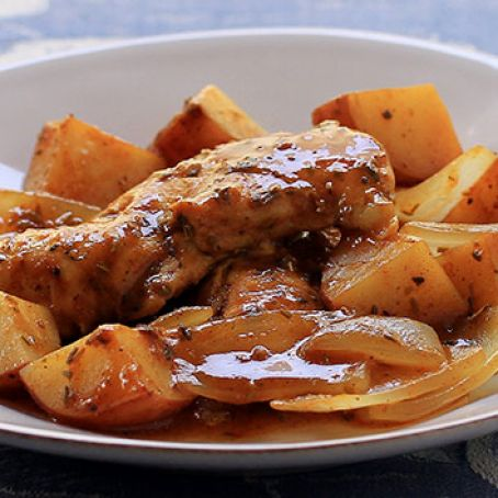 Mediterranean Chicken and Potatoes