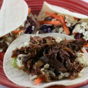 Shredded Korean Beef Tacos - Slow Cooker
