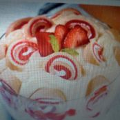 Strawberry Shortcake Roll Trifle