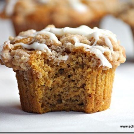 Pumpkin Muffins with Cream Cheese Glaze