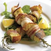 Grilled Scallop Skewers with Pancetta & Rosemary