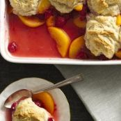 Peach & Raspberry Cobbler