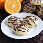 Orange Ricotta Cookies with Dark Chocolate