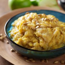Mashed Acorn Squash with Apples