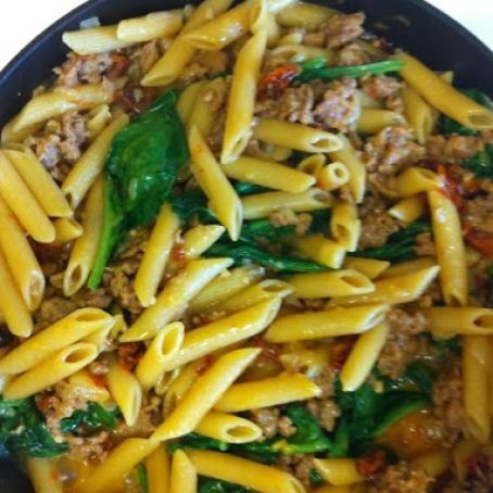 Skillet Penne & Sausage Supper