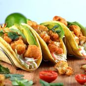 Cauliflower Tacos with Creamy Lime Slaw