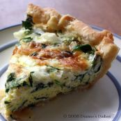 Easy Spinach & Pepperoni Quiche