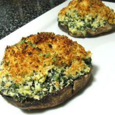 Portobellos Stuffed with Cheese and Spinach