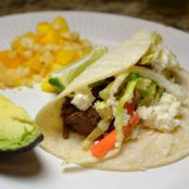 Shredded Beef Tacos (Carne Deshebrada) and Cabbage Carrot Slaw