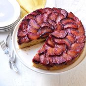 Sticky Plum Upside Down Cake