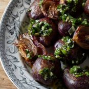Beer-Brined Potato Salad with Sunflower-Seed Chimichurri