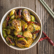 General Tso's Brussel Sprouts