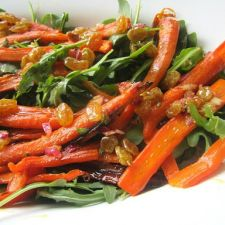 Roasted Carrot Salad with Cumin Raisin Vinaigrette