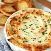 Hot Onion & Cheese Soufflé Dip