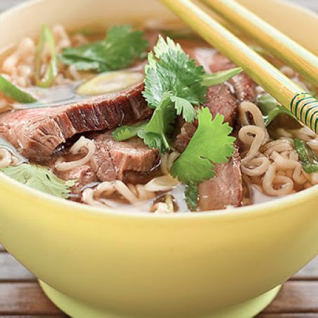 Ginger Beef and Ramen Noodle Soup