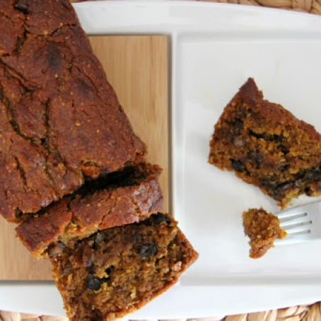 quickbread - Sweet Potato Pecan Bread with Chocolate Chips