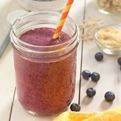 Lemon Blueberry Oatmeal Smoothie