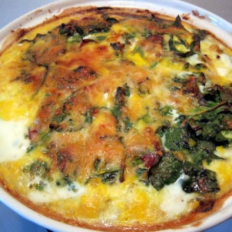 Spinach Bacon & Hashbrown Quiche