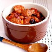 Three Bean and Pork Slow Cooker Chili 6pts