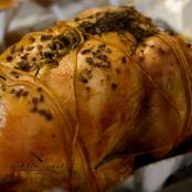 BBQ Roasted Whole Chicken with Thyme and Power Black Herbal Salt
