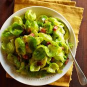 Brussels Sprout Leaves with Turkey Bacon