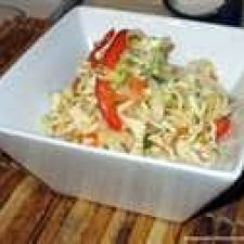 Peppery Coleslaw with Orange Chili Vinaigrette