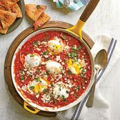 Eggs Simmered in Tomato Sauce