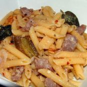Penne with Prosciutto, Walnuts & Fried Sage Leaves