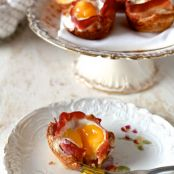 Bacon and Egg Toast Cups - Muffin Tin