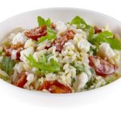 Orzo with Cherry Tomatoes, Feta and Mint