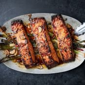 Broiled Salmon with Scallions & Sesame