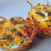 Hash brown baskets,eggs,bacon and cheese/Vicky/ Pinterest